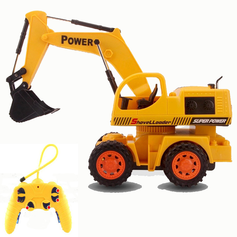 Electric Remote Wireless Excavators Remote Control Hydraulic Excavator Toy Car Children's RC Truck Toys Bulldozer Toy Gifts(China (Mainland))