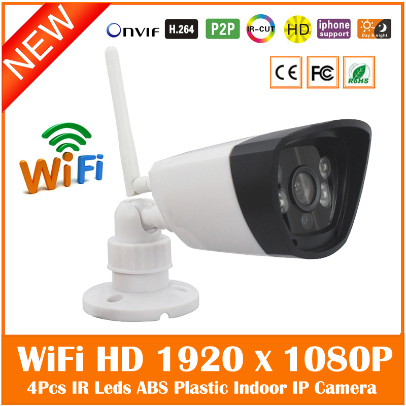 Full HD 1920*1080P Wifi Wireless Bullet IP Camera 4 Array Infrared Light P2P Onvif Home Surveillance Security Network IP Camera(China (Mainland))