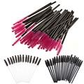 100 Pcs Descartáveis Cílios Escova de Rímel Varinhas Aplicador Spoolers Eye Lashes Cosméticos Brushes Set Ferramenta de Maquiagem Multicolor