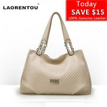 LAORENTOU Cow Leather Women's Handbags Made Of Genuine Ladies Real Leather Bags Luxury Genuine Leather European Handbag Hobos N5