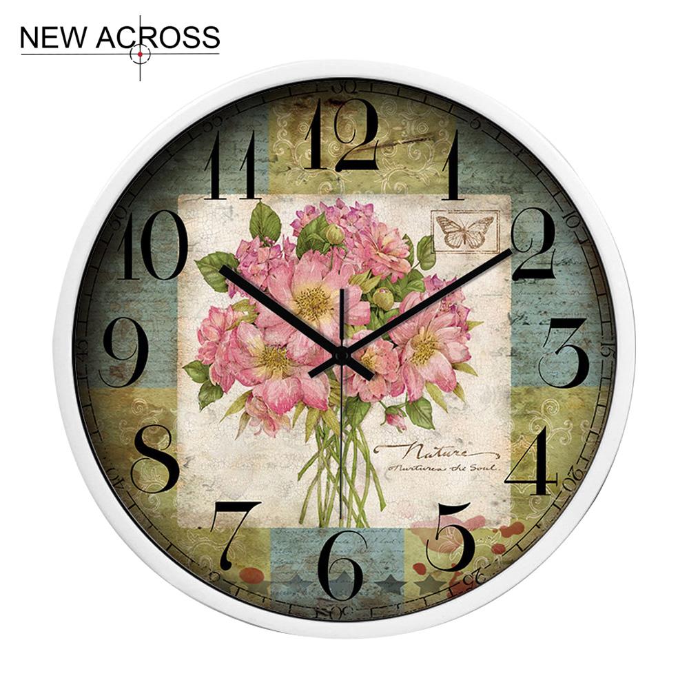 Gohide 1PCS Wall Clock Home Decoration Room Personality Retro Metal Clock Table No.G017 Decorative Kitchen Wall Clocks(China (Mainland))