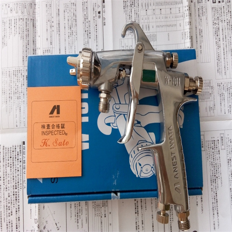 W-101G Spray Gun/Gravity/Feed Type W-101 Paint Gun /1.0/1.3/1.5/1.8mm Japan Made Anest Iwata With 400ML Cup Of Paint(China (Mainland))