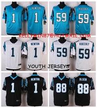 100% Stitiched,Carolina Panthers,Cam Newton,Luke Kuechly,Greg Olsen,for youth,kids(China (Mainland))