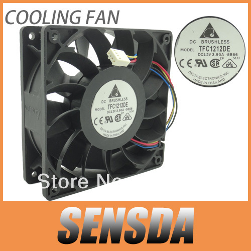 Delta 12CM 120mm 1225 12025 120*120*25MM PWM Fan TFC1212DE 252CFM vs PFB1212UHE Most Powerful Server CaseFan(China (Mainland))