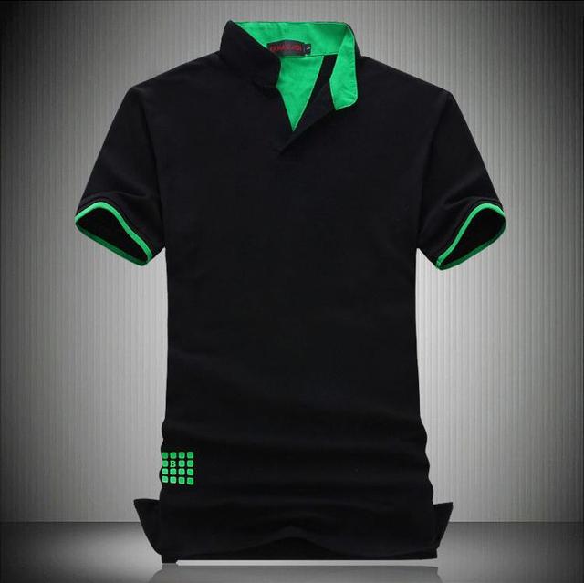 Новый 2014 мода с коротким рукавом поло мужчин поло хлопок camisa поло masculina ...