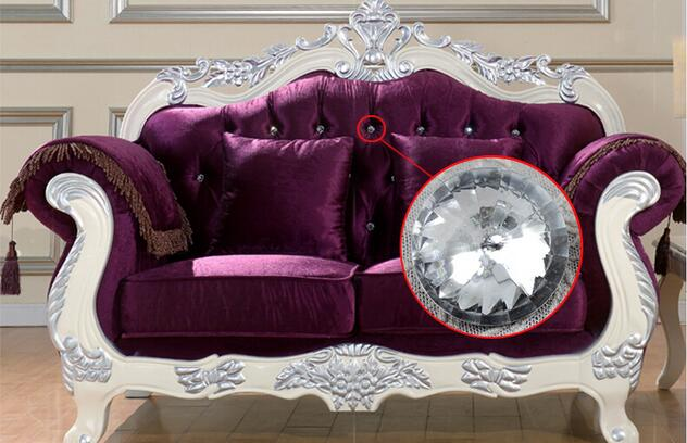 Fashion Crystal Glass Fasteners Button Nail Sofa Soft Hard Pack KTV Backdrop Bedroom TV Furniture Wall Decoration Accessories(China (Mainland))