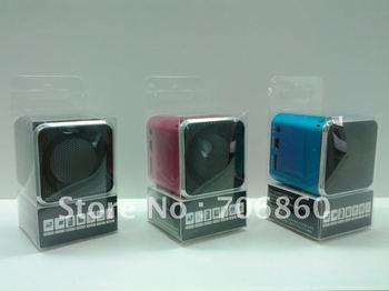Digital portable Mini Speaker MP3 Player USB Disk Micro SD TF Card FM Radio Free Shipping