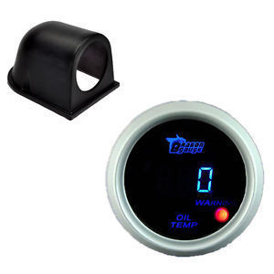 New Black 52mm Gauge Pod White 2 1/16 inch 52mm Digital LED Oil Temperature Gauge For Auto Car Instruments Free Shipping(China (Mainland))
