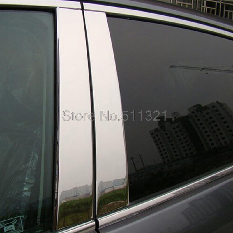 Honda CRV CR-V 2007-2011 Chrome Window Trims Center Pillar Pillars Cover Trim