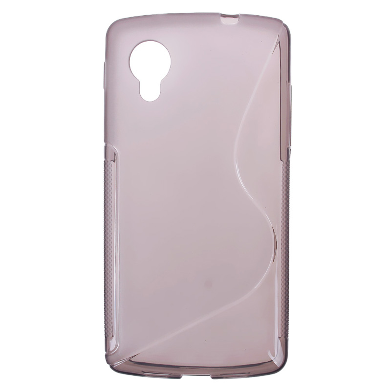 Soft S Line TPU Silicone Skin Style Back Case Cover For LG Google Nexus 5 HITM #64585(China (Mainland))