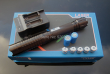 blue laser pointers 100000mw 100W 450nm /burn match balloon dry wood+Free carton+ charger for free(China (Mainland))