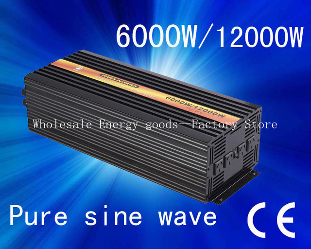 Free shipping!6000W Pure Sine Wave Power Inverter DC 48V to AC 240V Power inversor/inverterwith CE&ROHS Approved((CTP-6000W)