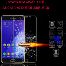Tempered Glass Screen Protector Samsung Galaxy A3 A5 A7 J3 J5 J7 2015 2016 Protective Film A310 A510 A710 - merry Qu's store