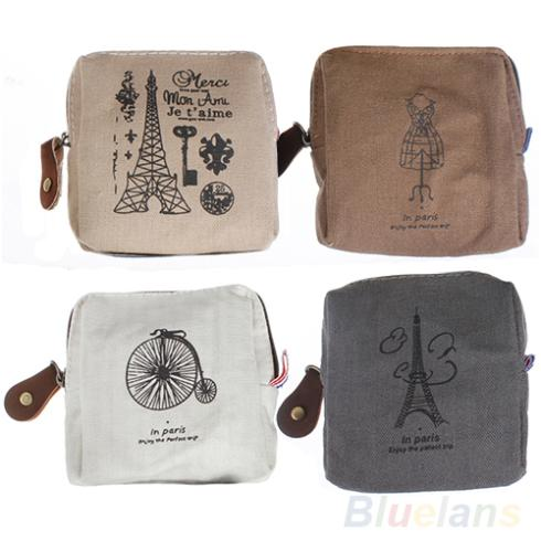 Гаджет  Classic Retro Canvas Tower  Wallet Card Key Coin Purse Bag Pouch Case 4 pattern for Women Girl None Камера и Сумки