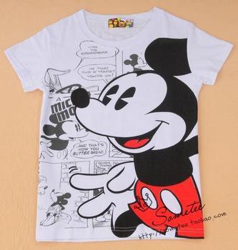 Free shipping lady MICKEY women's t shirt short-sleeve 100% cotton t-shirt