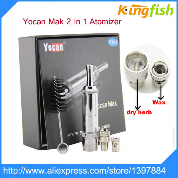 Authentic Self Cleaning Dry Herb Vaporizer Yocan Mak Glass Atomizer Dry Herb Yocan Dry Herb wax Atomizer(China (Mainland))