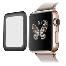 2015 Hot Premium Real 0.2mm Tempered Glass Screen Protector Film with Full Cover Metal Edge for Smart Apple Watch i Watch (42mm)