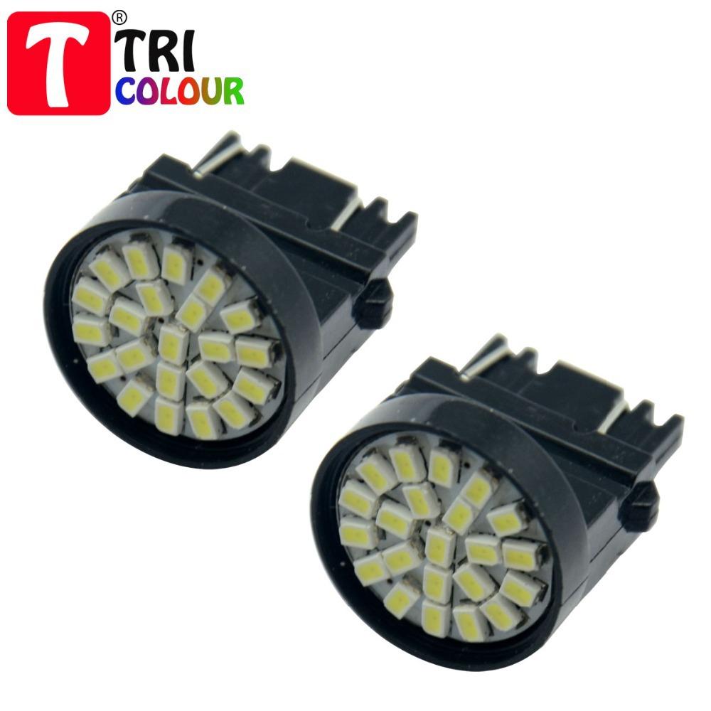 100 X T25 3156 3157 1206 22 smd led switchback 3456 3457 4157 Car Auto Turn signal Brake Stop light Reverse White 12V #LE01-1(China (Mainland))