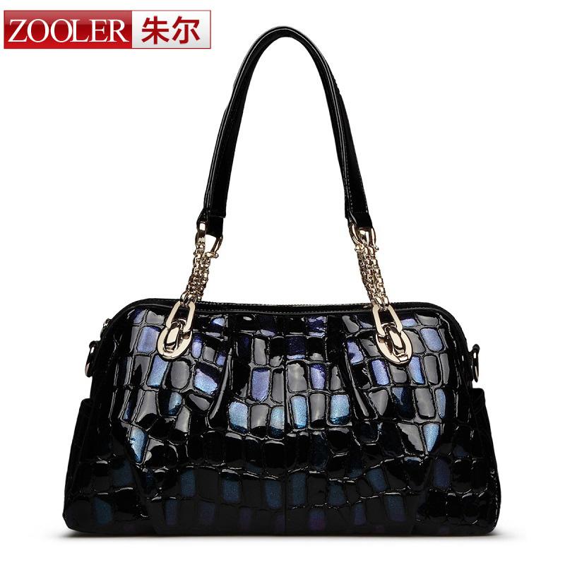 ZOOLER brand 2016 genuine leather bag superior cowhide leather female bag women handbag shoulder bag worldwide hot sale(China (Mainland))