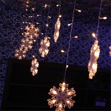 hot new products for 2014 LED Christmas light /132 bulbs hang Snowflakes for free shipping(China (Mainland))
