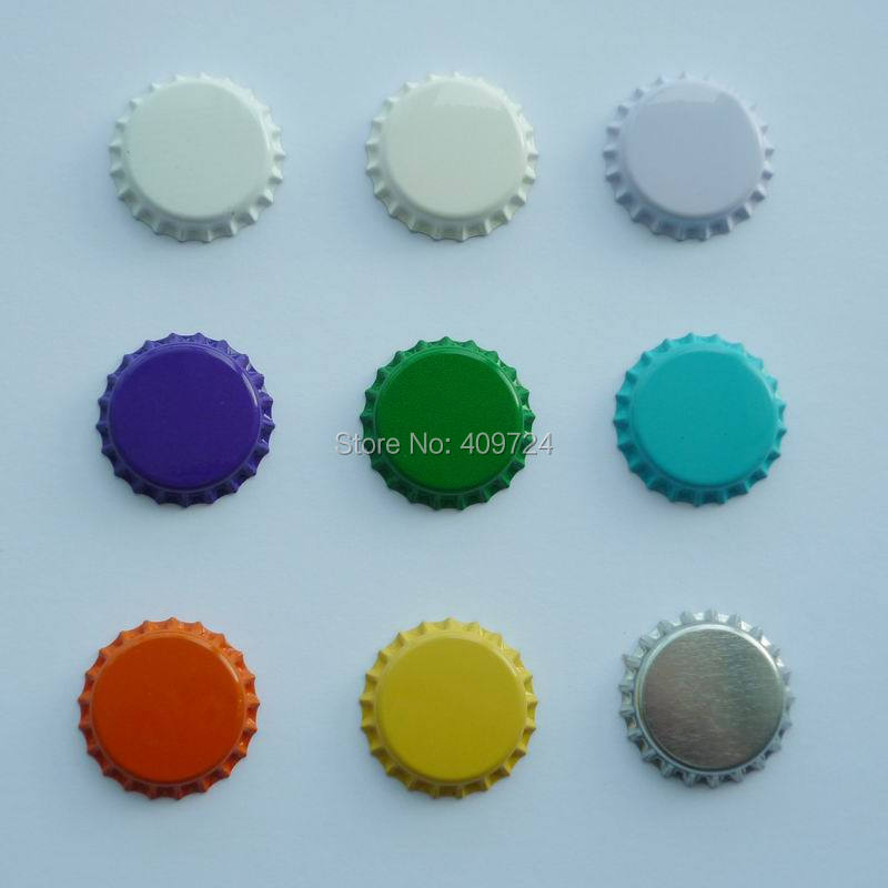 """Wholesale&Free Shipping:""""1000 pcs/lot"""" Mixed Color Metal Bottle Caps Crown Bottle Caps In Single-side Color For DIY Crafts(China (Mainland))"""