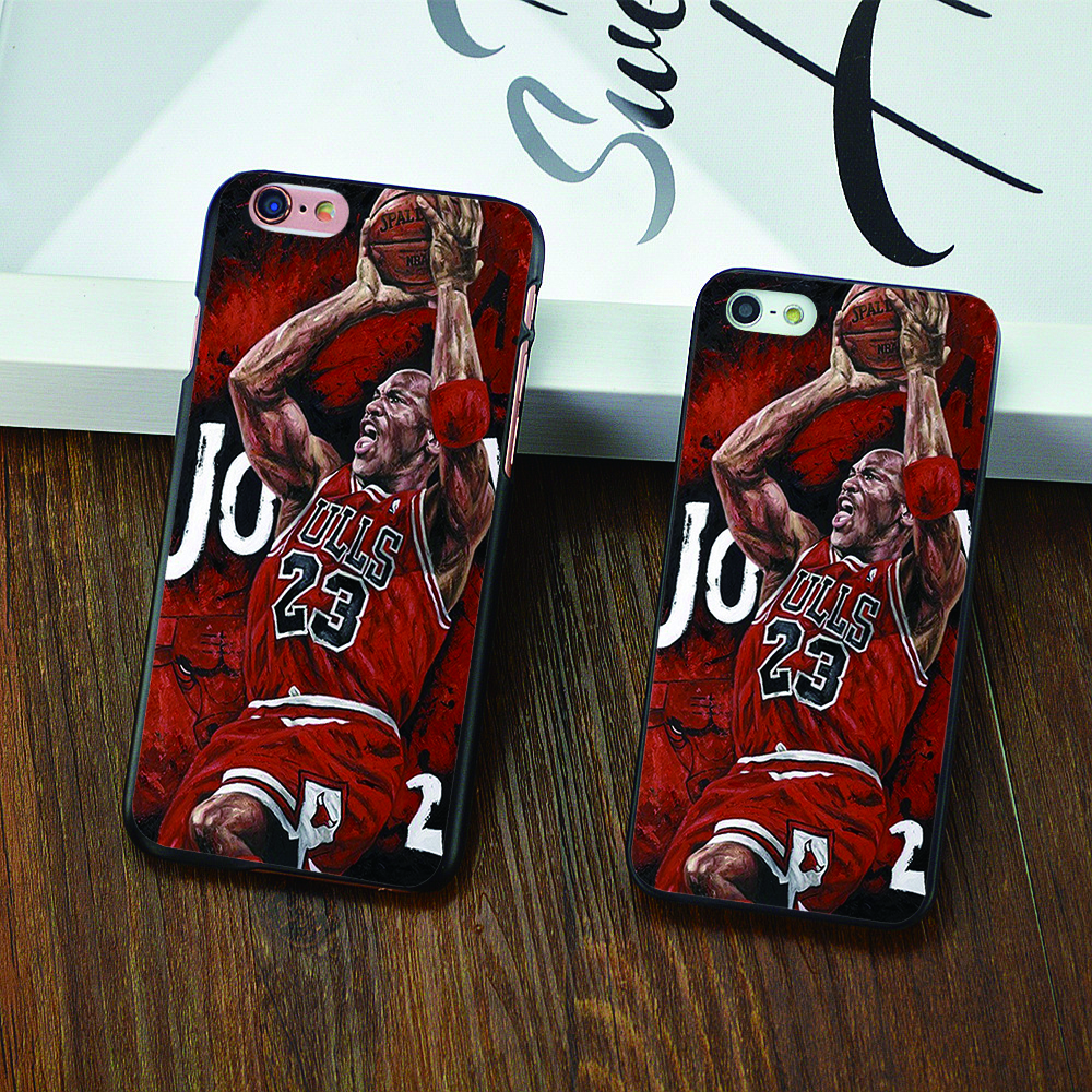 New NBA legend Air brand Michael Jordan 23 fundas PC hard mirror Phone Cases For iPhone 4 4s 5c 5 5s 6 6s puls Black cover(China (Mainland))