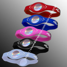 Power Energy Hologram Bracelets Wristbands Keep Balance Ion Magnetic Therapy Fashion Silicone Bands Free Shipping(China (Mainland))