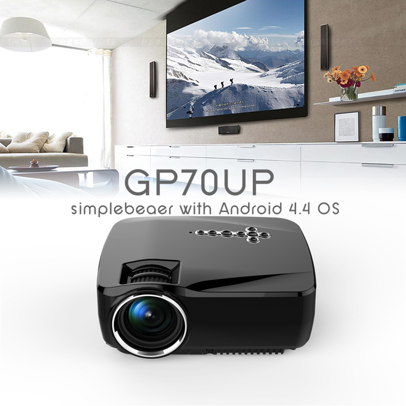 Android4.4 Wireless Portable mini projector 1080P Ready TV LED Smart Projectors simplebeamer 1200 lumens with Bluetooth + WIFI(China (Mainland))