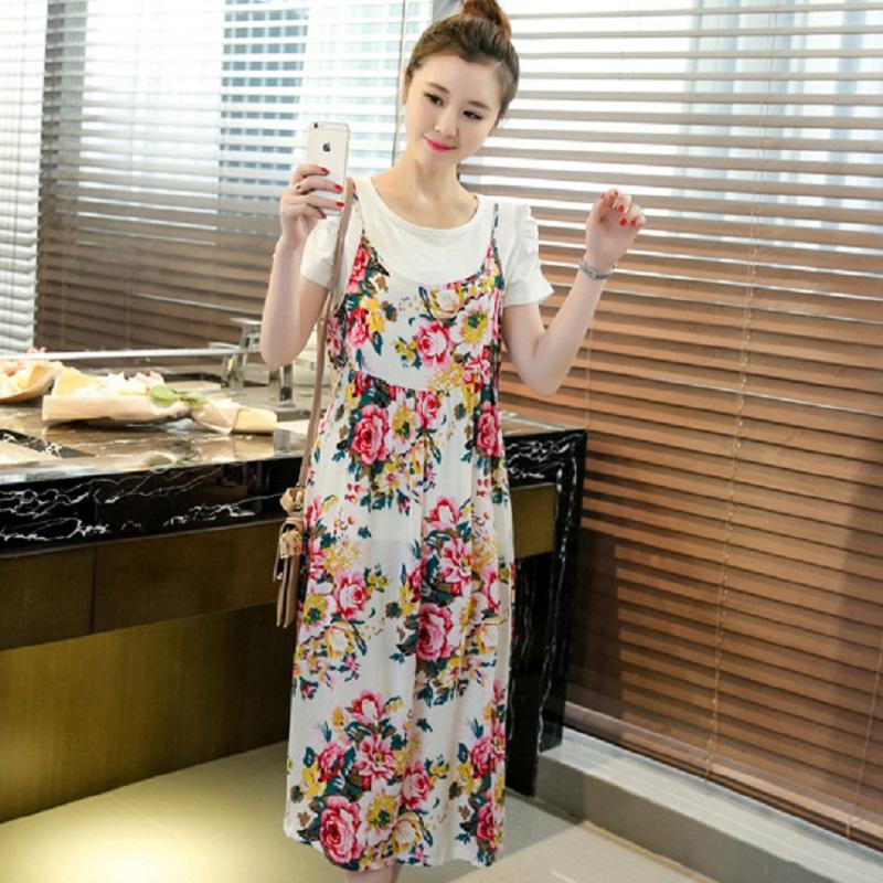 2016 new print summer women s dresses pregnancy dresses font b maternity b font dresses font