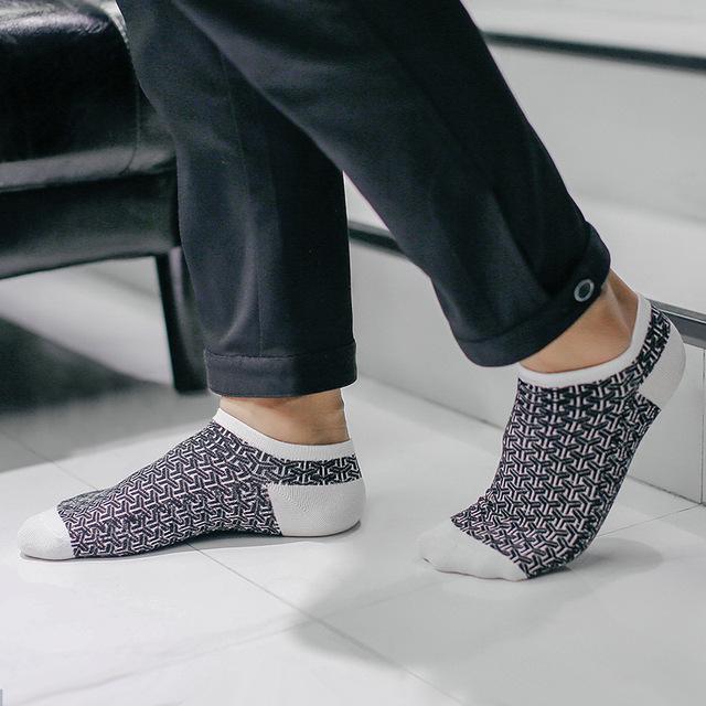 1 пара летние короткие хлопковые мужские носки