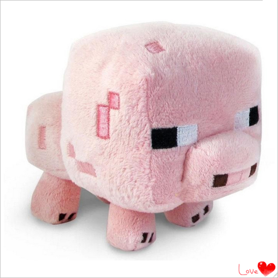 2015 New Arrival Minecraft Plush Toys 16CM Cute Pink Pig Soft Plush Stuffed Toys Kids Favor Animal Dolls Holiday Gift For Girls(China (Mainland))
