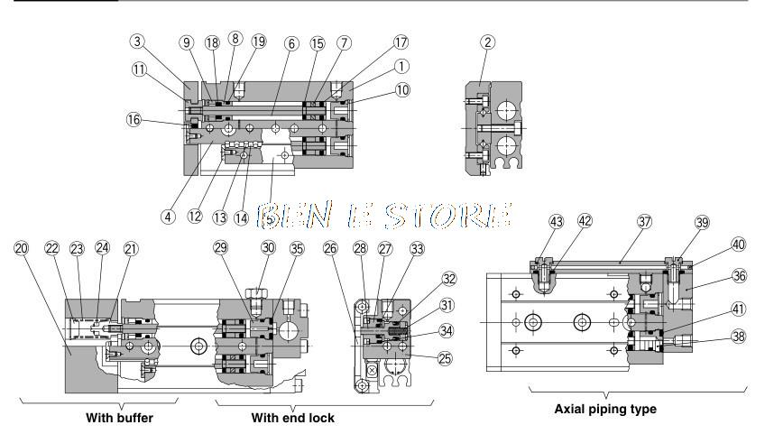 Купить SMC Тип Цилиндр MXS 25-10AS Воздуха Презентация Таблица Двойного Действия 25 мм-10 мм Принять Обычаи