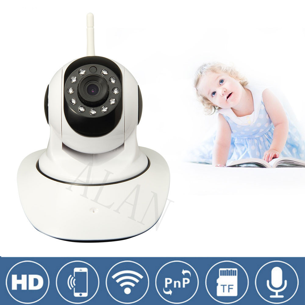 IP Camera WiFi Wireless Network Mini Rotatable Smart Security Camera Defend for family HD Cctv Support Android IOS PC Smart(China (Mainland))