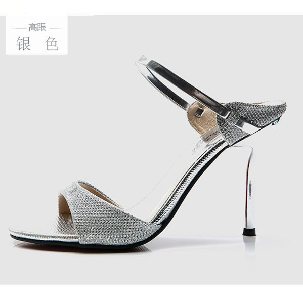 women High-heeled sandals fashion 2016 new sexy high heels sandals with bright women summer pumps With high 8.5cm