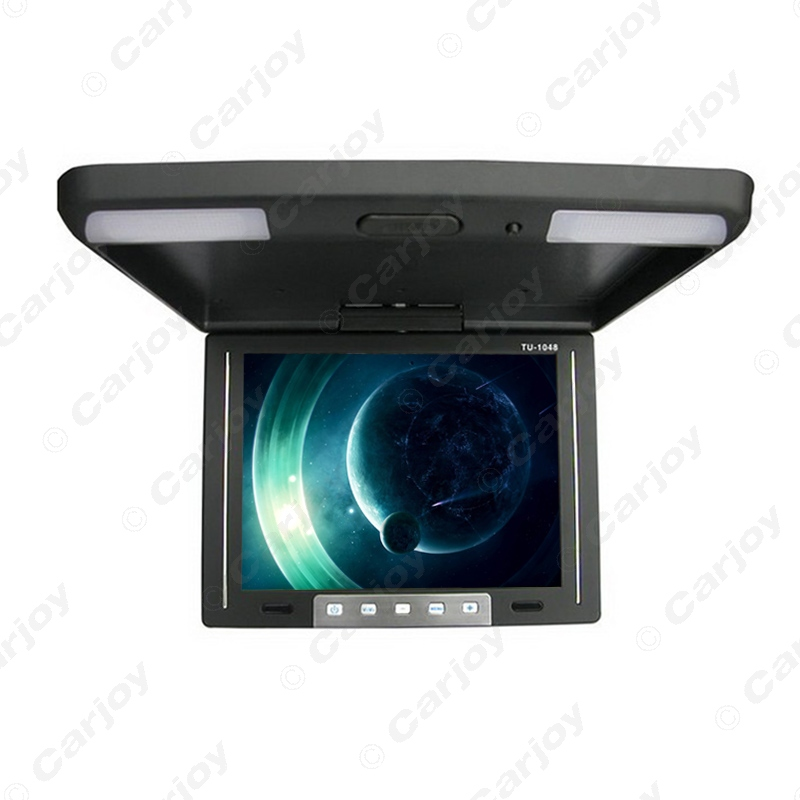"""10.4"""" Inch Roof Mounted TFT LCD Monitor 2-Way Video Input Flip Down Car Monitor 3-Color Black, Grey, Beige For Choice #CA1283(China (Mainland))"""