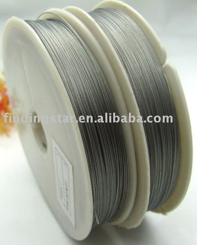 FREE SHIPPING 1ROLL 100M Silver Tiger Tail Beading wire 0.45mm M82(China (Mainland))