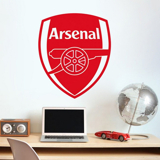 New wall art DIY home decoration removable Premier League Arsenal team logo wall stickers living room bedroom den # T037(China (Mainland))