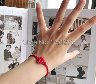 Free shipping 2015 new Fashion Jewelry Hot Chinese knot hand-woven red string bracelet jewelry transporter(China (Mainland))