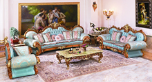 luxury European style antique vintage comfortable living room sofa set(China (Mainland))