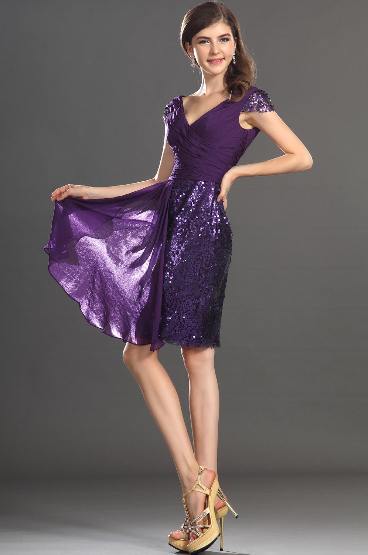 Dorable Sequins Cocktail Dresses Regalo - Ideas de Vestidos de ...