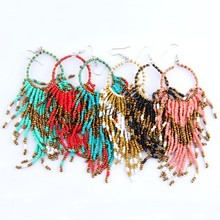 Fashion jewelry Statement Earring Drop Earring Bohemian style Glass Seed Beads earings for women pendientes more colors (China (Mainland))