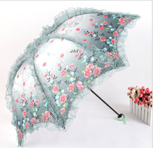 Colorful New Arrival Flower Partten Vintage Wedding Umbrella Grey Parasol Wash Painting Bridal Umbrella(China (Mainland))