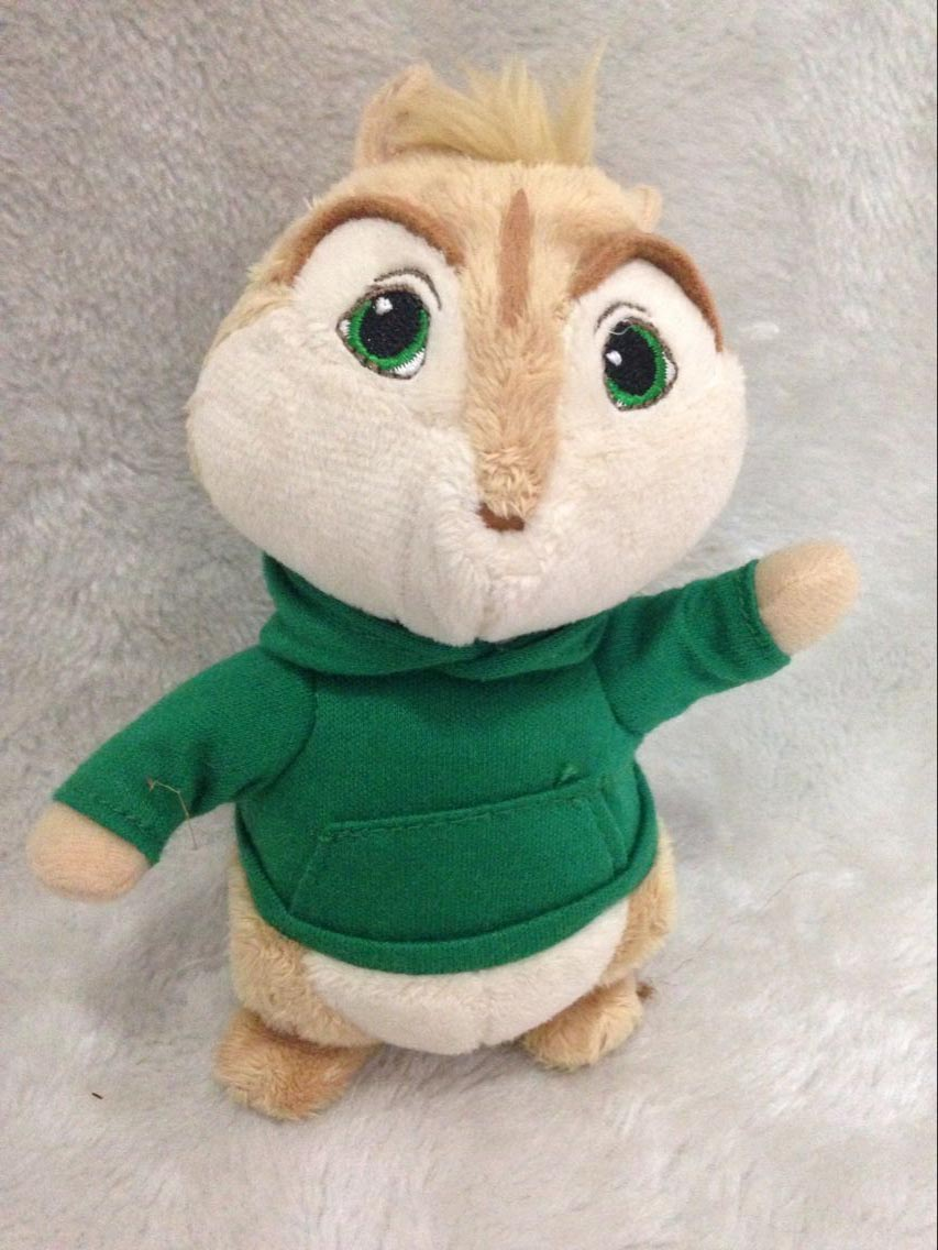 Alvin and the Chipmunks Theodore Plush Doll Toy 13cm