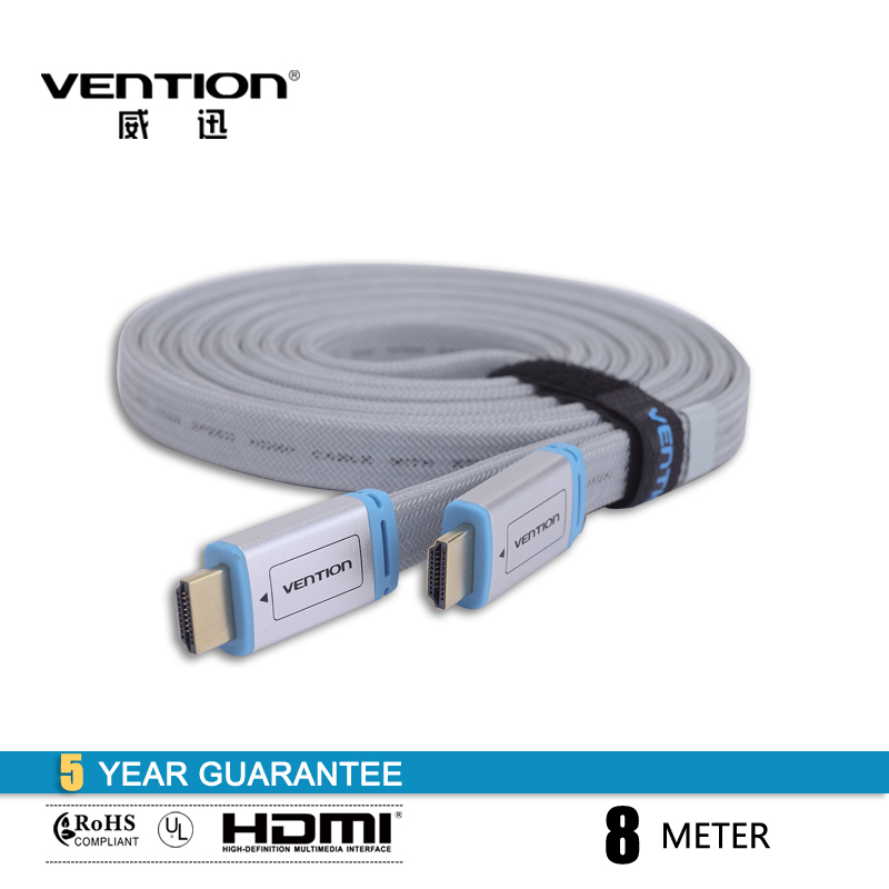 Vention High Quality 1.4v  Flat HDMI to HDMI Cable 8M For Computer PC XBOX 360 PS2