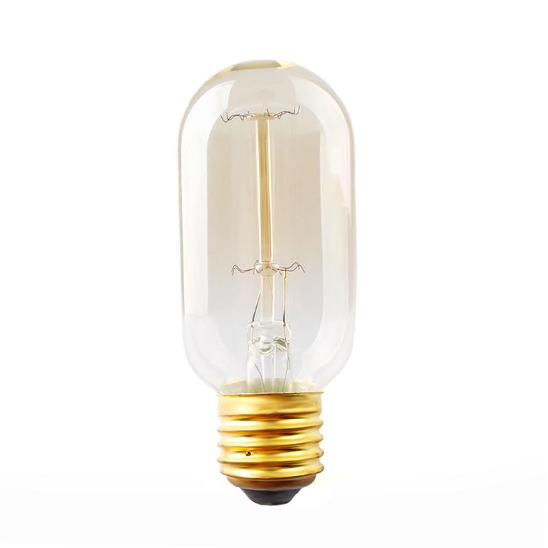 E27 40W Edison Retro Filament Tungsten T45 Filament Light Bulb Antique Style Lamp #74212(China (Mainland))