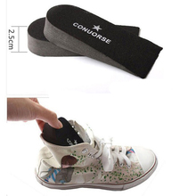 New 2.5 cm Adjustable Heighten Height Increase Insoles Heel Pain Heel Spur Cup Insoles Support Shoe Cushion Inserts For Unisex(China (Mainland))