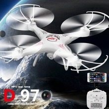 D97(white) 6-Axis Gyro 2.4G 4CH Real-time Images Return RC FPV Quadcopter Drone Wifi with HD Camera One-press Return