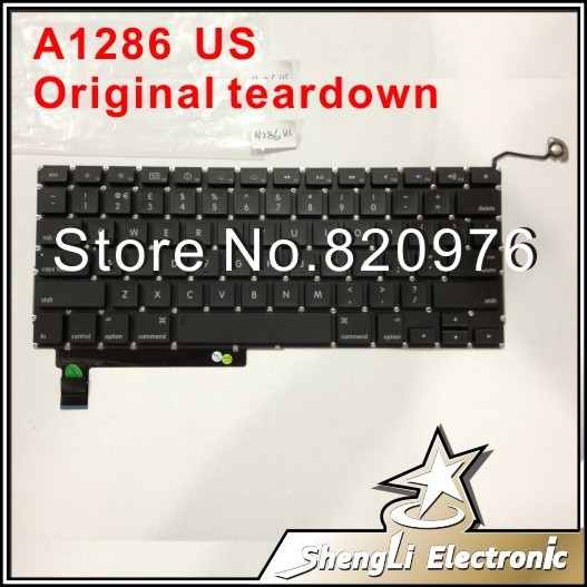 "For 15"" Unibody Macbook Pro A1286 MB985 MC721 US Keyboard Layout 2009 2010 2011 2012+Free Shipping"