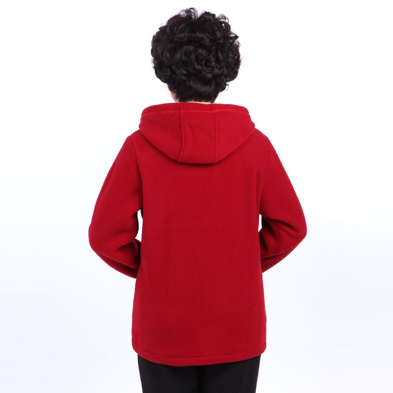 Winter Middle Aged Womens Hooded Imitation Lambs Fleece Jackets Ladies Warm Soft Velevt Coats Mother Overcoats Plus Size (6)