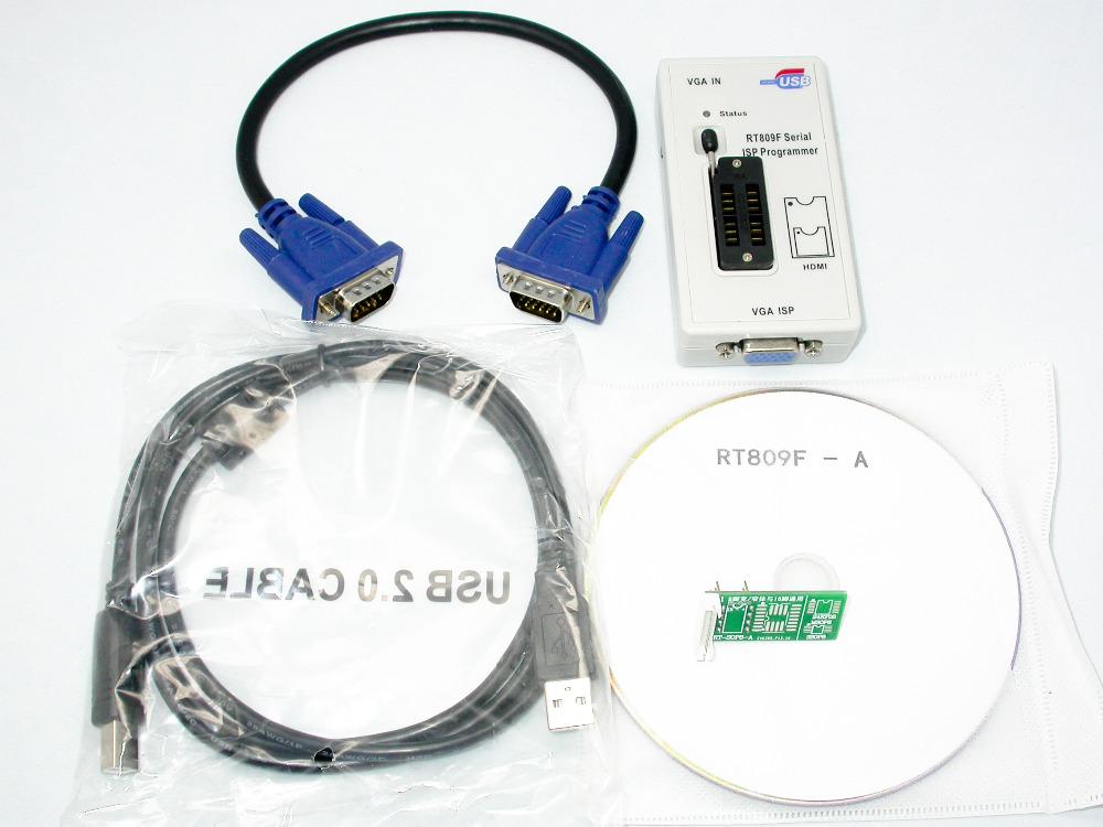 RT809F Programmer Electronic Kits LCD USB RT809F Universal EPROM FLASH VGA ISP AVR GAL PIC Programmer(China (Mainland))